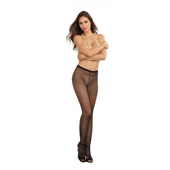 Σέξι γυναικείο καλσόν δίχτυ με ραφή