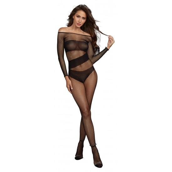 Σέξι ολόσωμη φόρμα δίχτυ με μανίκι