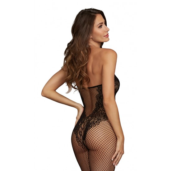 Σέξι γυναικεία ολόσωμη φόρμα δίχτυ με δαντέλα
