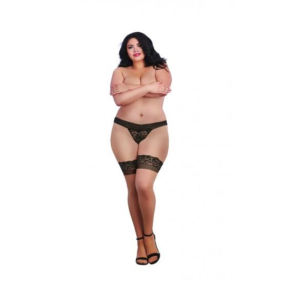 Σέξι κάλτσες γυναικείες με δαντέλα & σιλικόνη