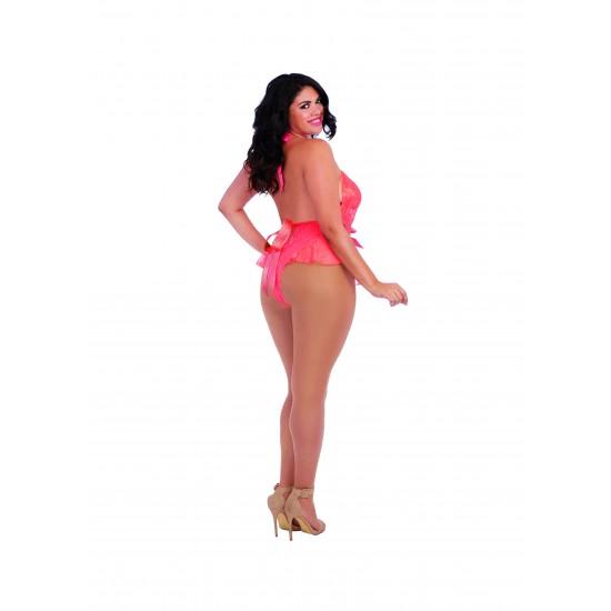 Sexy γυναικείο δαντελένιο κορμάκι DG10583