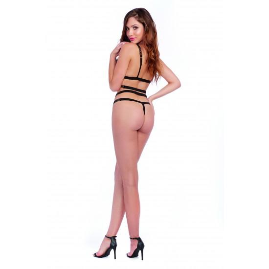 Sexy δαντελένιο σετ με λουράκια