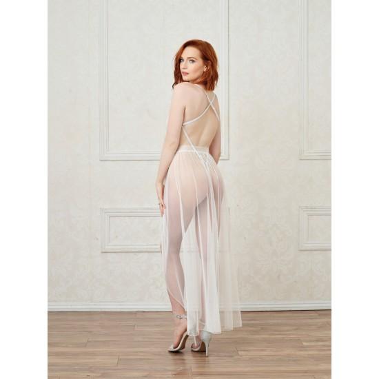 Γυναικείο σετ κορμάκι με διάφανη φούστα