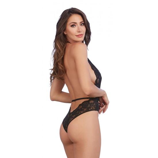 Ρομαντικό σέξι γυναικείο δαντελένιο κορμάκι