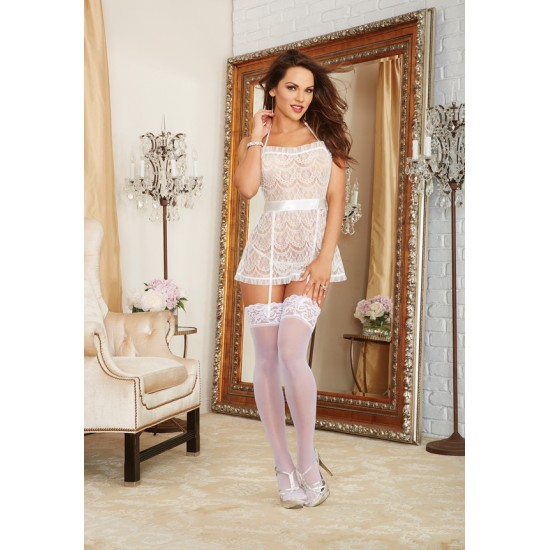 Sexy babydoll δαντέλα με κυλοτάκι καρδιά!