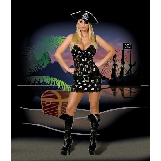 Σέξι γυναικεία στολή πειρατίνα (4 τεμάχια)