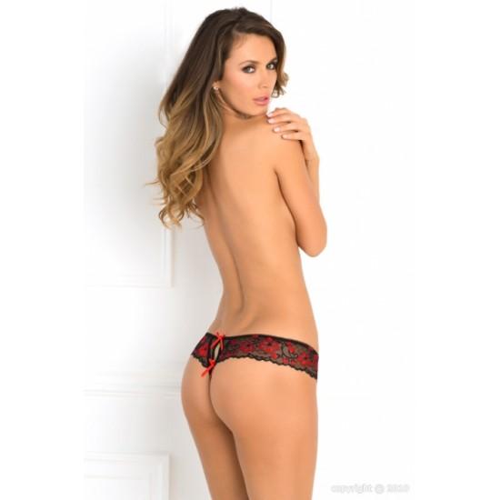 Σέξι γυναικείο open στρινγκ δαντέλα