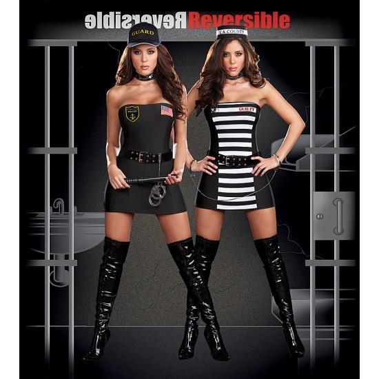 """Στολή δύο όψεων """"Φύλακας & Κρατούμενος"""""""