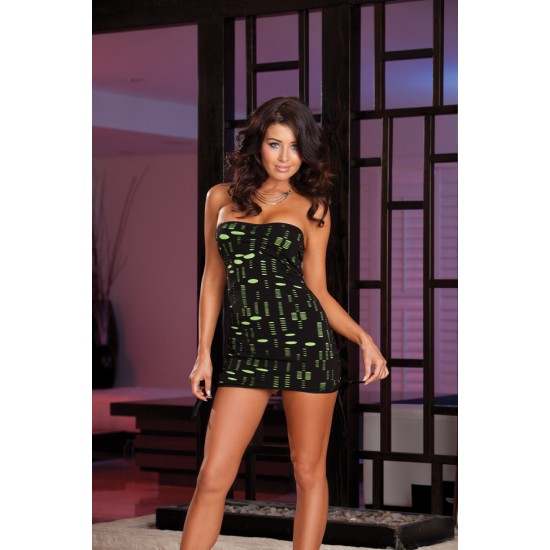 Laser γυναικείο στράπλες φόρεμα