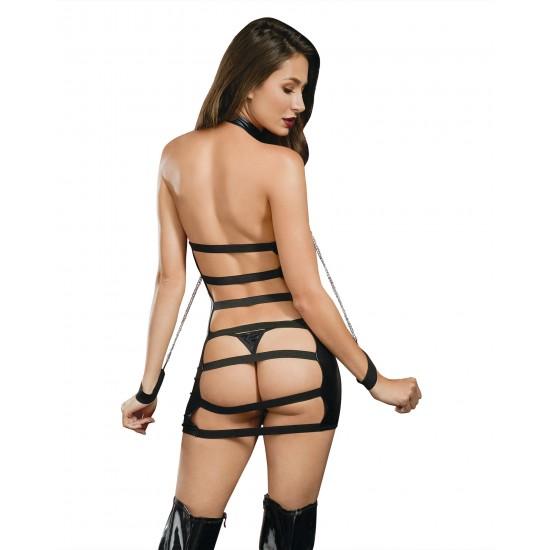 Σούπερ σέξι ντύσιμο σε στυλ δέρματος και χειροπέδες!