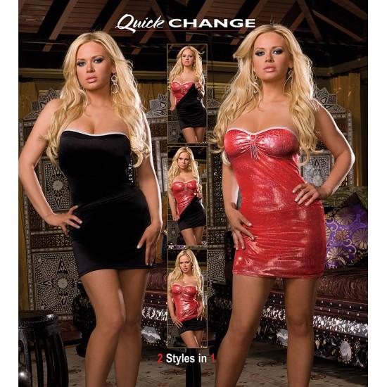 Γυναικείο μίνι φόρεμα διπλής όψεως