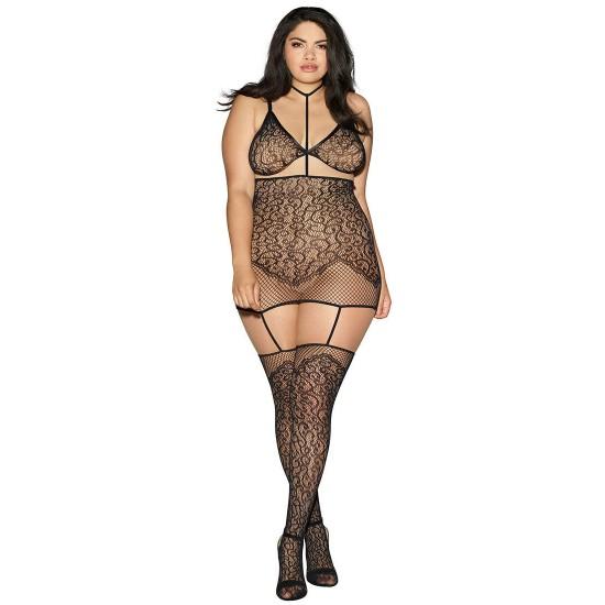 Σέξι σετ σουτιέν-φόρεμα-ζαρτιέρες